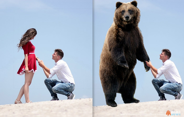 What was once an adorable image is now clearly a microaggression when you throw in a bear.