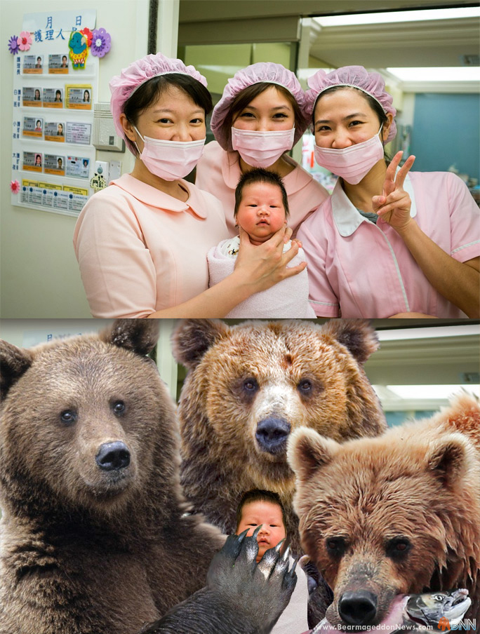 If you wouldn't let these bears hold your baby, why is it OK for these women to? Think about it.